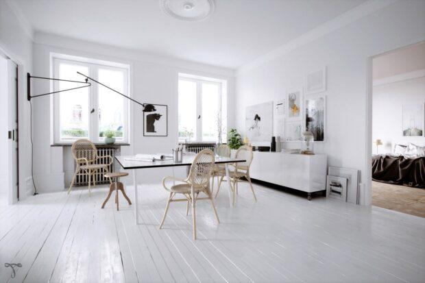 столовая в стиле минимализм