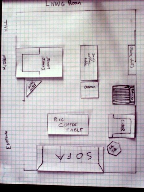 планировка прямоугольной комнаты