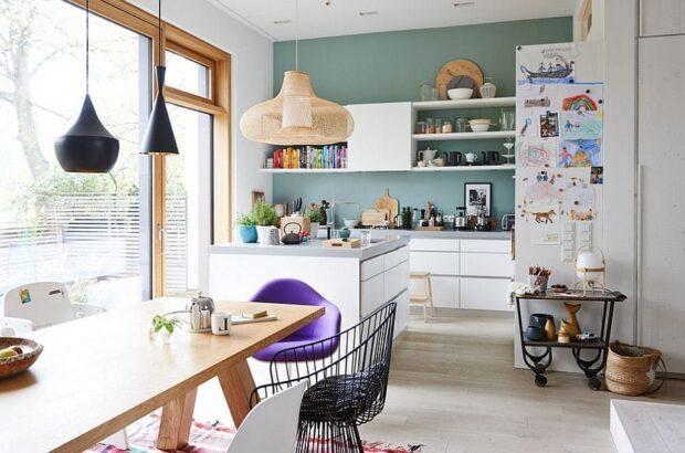 кухня в скандинавском стиле с островом