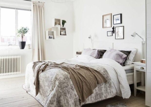 скандинавский стиль в интерьере спальной