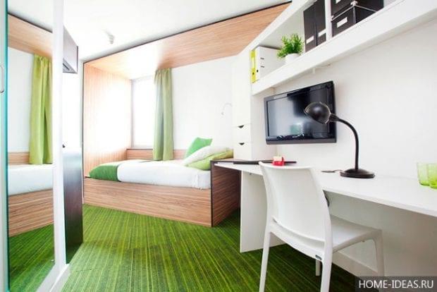 10 стильных, экономящих пространство идей по оформлению спальни
