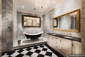 4 идеи отделки ванной комнаты металлической фурнитурой