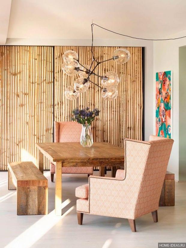 Бамбуковые обои в интерьере: фото