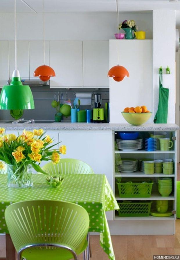 Декор квартиры в зеленом цвете