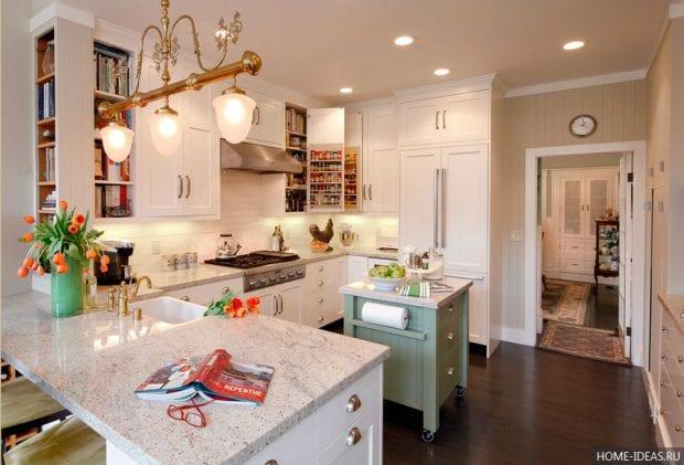 Дизайн интерьера кухни 12 кв. метров: фото