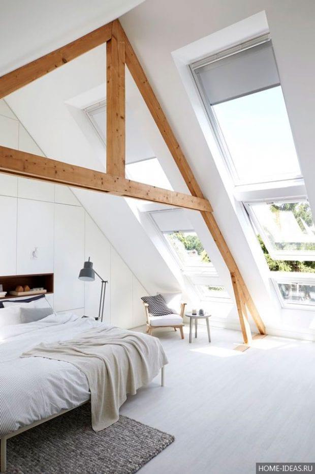 Дизайн мансарды: фотогалерея интерьера в частном доме