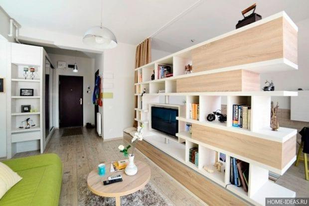 Дизайн однокомнатной квартиры 40 кв.м: фото