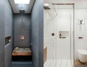 Дизайн ванной комнаты с душевой кабиной: фото