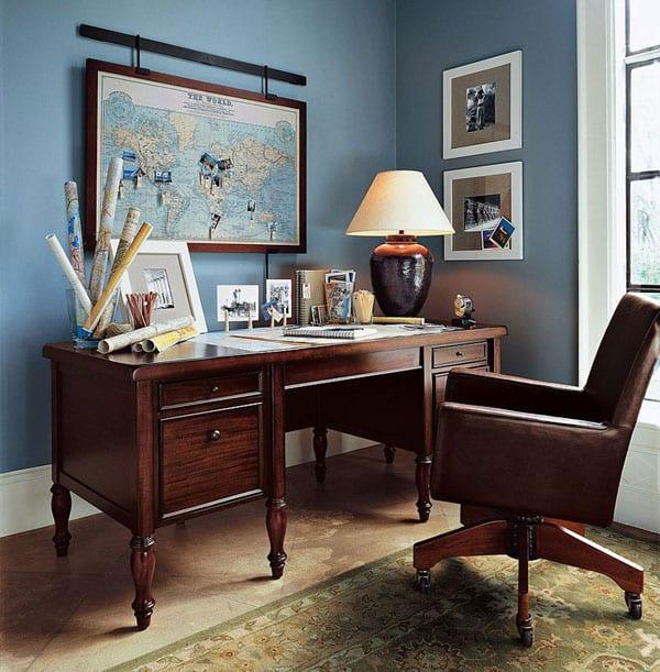 Домашний офис в интерьере маленькой квартиры