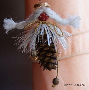 Елочные украшения из шишек своими руками