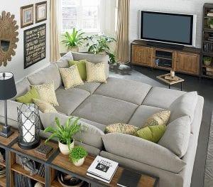 Гостиная комната с телевизором: красиво и удобно