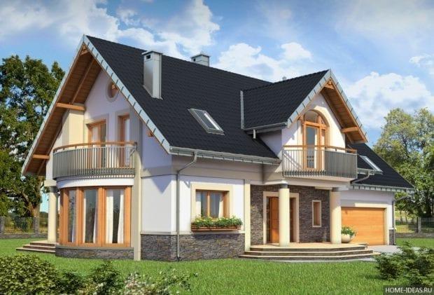 Грамотная планировка дома с мансардой