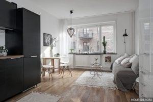 Идеи интерьера: квартира-студия в скандинавском стиле (Швеция)