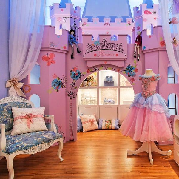 Интерьер детской девочки: комната в стиле маленькой принцессы