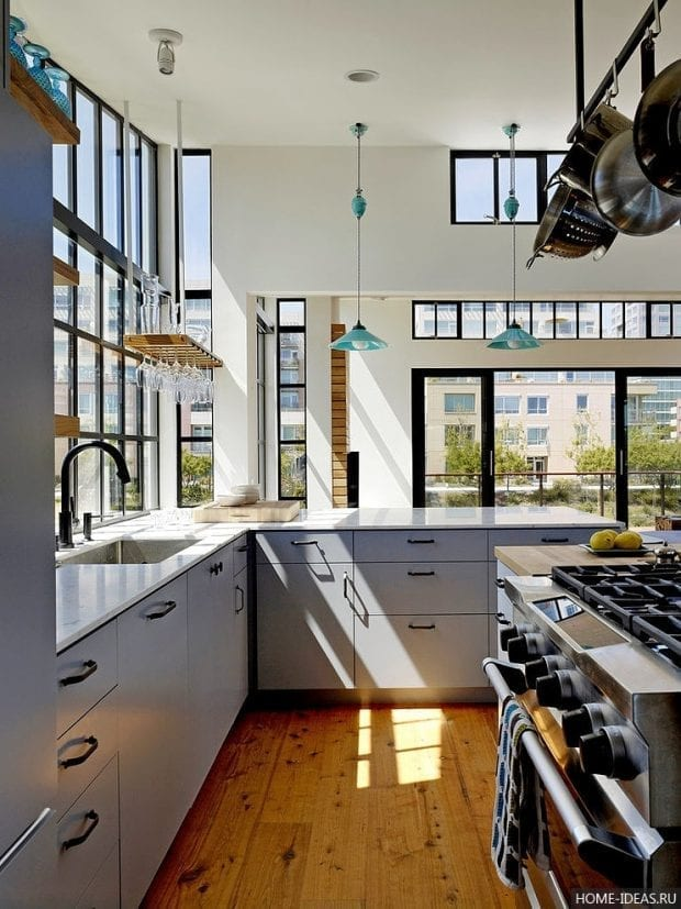 Интерьер кухни 9 кв.м: фото