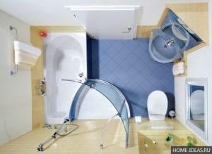 Интерьер маленькой ванной комнаты: 10 идей