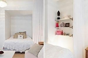 Интерьер однокомнатной квартиры из Швеции в скандинавском стиле