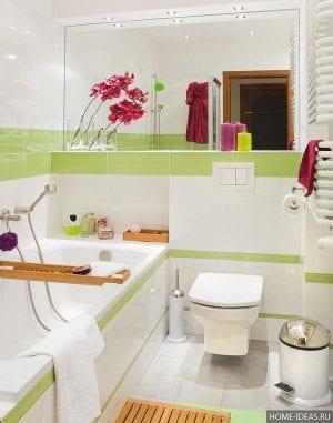 Интерьер ванных комнат, совмещенных с туалетом