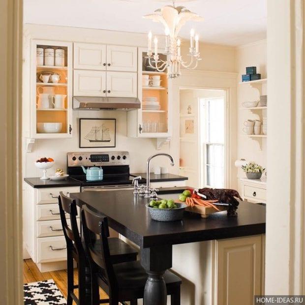 Как расставить мебель на маленькой кухне