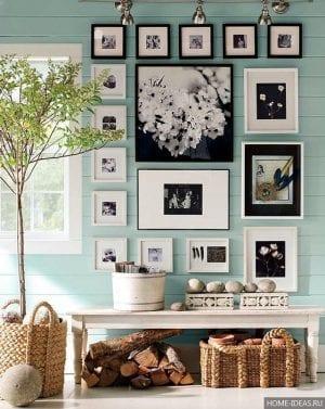 Как развесить картины в квартире?