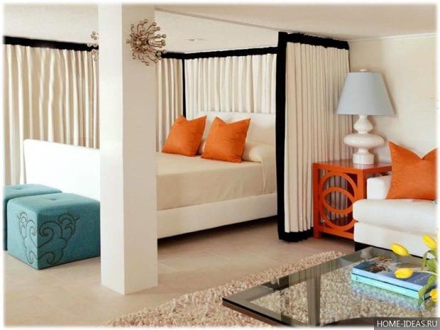 Как сделать спальню-гостиную в одной комнате