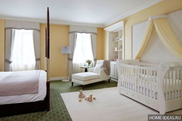 Как совместить детскую и спальню?