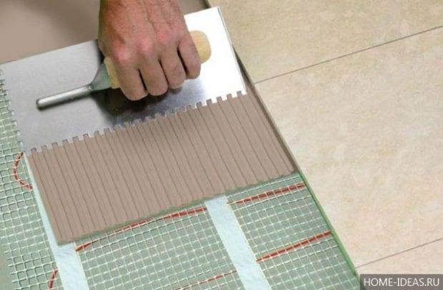 Как выбрать плиточный клей для теплого пола?