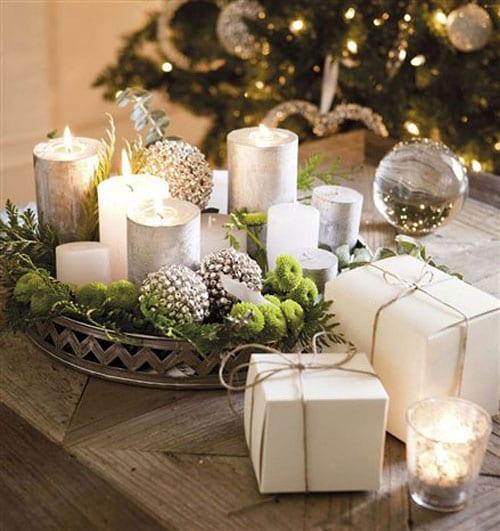 Красивые композиции для украшения стола к Новому Году и Рождеству
