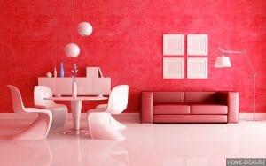 Красный цвет в интерьере квартиры и его сочетания