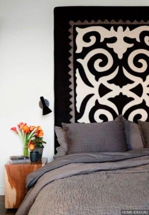 Креативные варианты изголовья кровати