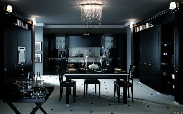 Кухни в черном цвете (25 фото)