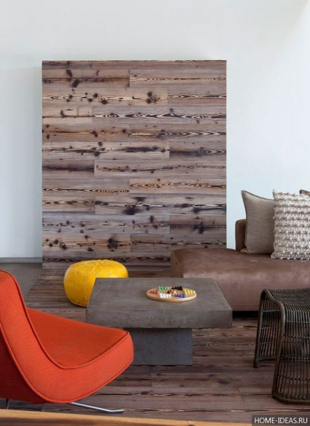 Ламинат на стене в интерьере: фото