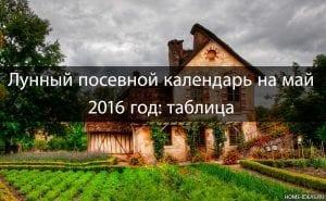Лунный посевной календарь на май 2016 год: таблица