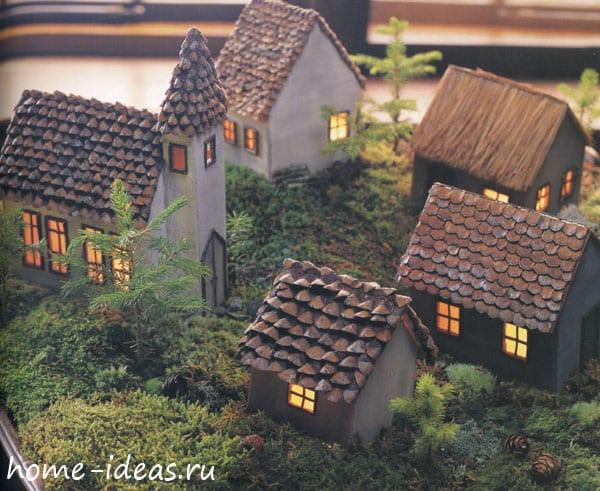 Новогоднее оформление дома с использованием натуральных природных материалов