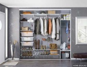 Современные гардеробные системы хранения