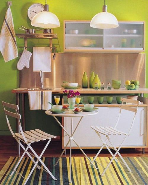 Выбираем место для обеденного стола на кухне