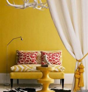 Желтый цвет в интерьере и его сочетания