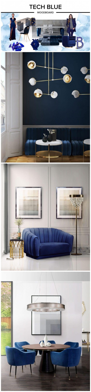 Синий цвет в дизайне интерьеров