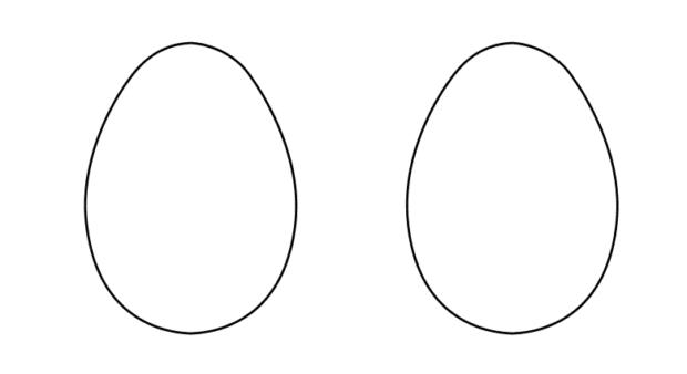 Шаблон пасхального яйца для поделки