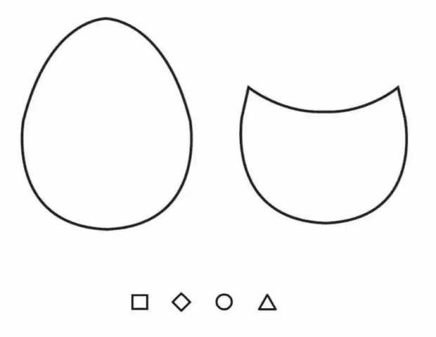 Шаблон поделки пасхального яйца