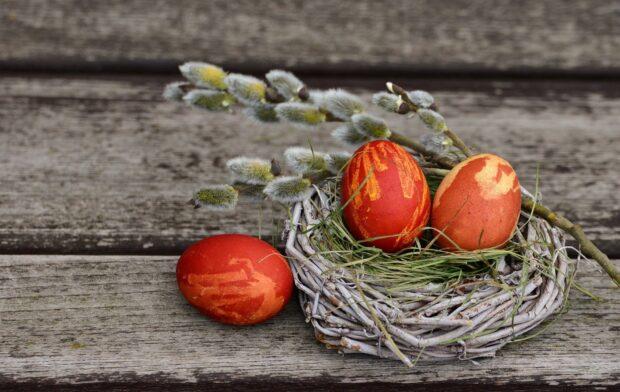 как красиво покрасить яйца луковой шелухой