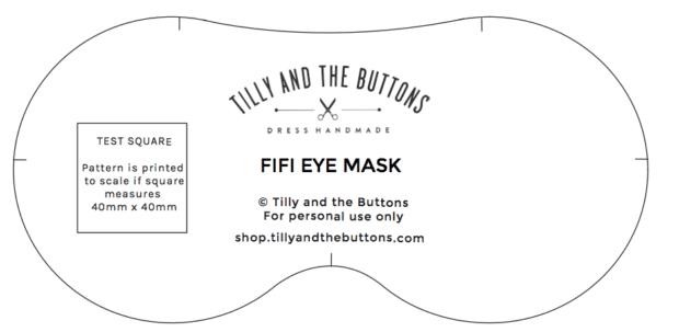 шаблон маски для глаз