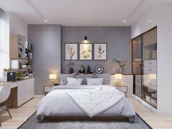 скандинавский стиль маленькой спальни